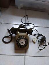 Ancien Téléphone SOCOTEL  cadran Vintage s 63 1980