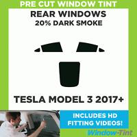 Pre Cut Window Tint - Tesla Model 3 2017+ - 20% Dark Rear