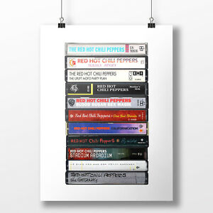 Red Hot Chili Peppers Poster: Cassette Print, Albums, Fan, Gift, Art,
