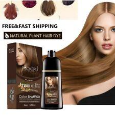 Hair Colour Shampoo Cover Gray Hair Dye Mokeru Natural Brown Color Permanent Oil