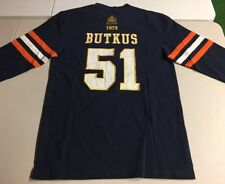 CHICAGO BEARS BUTKUS #51 RETRO L/S JERSEY HOF CANTON BLUE MENS SMALL NEW $60