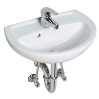 Waschtisch - Set  45 cm Waschbecken Siphon Armatur Einhebelmischer Eckventile