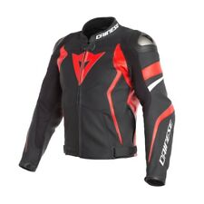 Dainese Avro 4 cuir noir rojo black lava rouge cuir taille taille 48