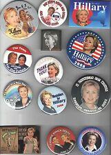 2006 - 2008 HILLARY Clinton 13 pin EARLIER Campaign pinback button