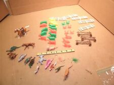 Large Lot Of Small Plastic Animals (Farm, dinosaurs, & FENCES