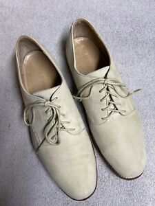 Cole Haan Mens Ivory Suede Leather Oxfords Casual Dress Shoes Size Sz 13 D USA