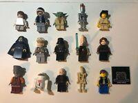 Lego Star Wars Minifigures Lot of 15 - Darth Vader, Luke, Han, Yoda, Jedi +++