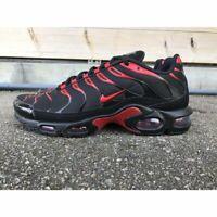 Nike Air Max Plus Mens Black Red Sneaker Sport Shoe Trainer UK Size 6-12