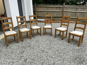 6 FRENCH OAK DINING CHAIRS