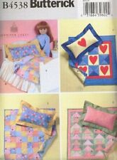 """Pattern Sewing Butterick Girl fits 18"""" inch Doll Bed Quilt Pillow"""