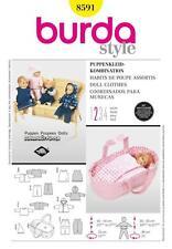 BURDA COUTURE motif poupées vêtements veste robe cape bébé 8591