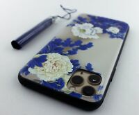 Chinese Flowers Paeonia with Blue Leaves TPU Case Cover Apple iPhone 11 Pro Max