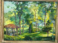 Lillian Thoele Oil Painting Romantic Wistful Country-Forest Home - Impressionist