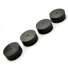 4Pcs 50*20mm Carbon Fiber Speaker Spike Cone Pad Isolation Base Feet HiFi AMP