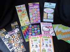 Scrap booking Sticker Lot Hello Kitty Sports Flowers Stars Mixed lot