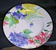 """Savoir Vivre, YA053 Meadow Splendor 12-1/8"""" Chop Plate/Rd Serving Platter - Used"""