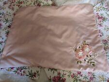 Chic Home Pillow Sham Shabby Style Handmade Ribbon Roses Pink Darling