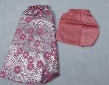 Vintage Barbie Doll Party Separates Pink Satin Brocade Skirt Two 1974 Rare 7841