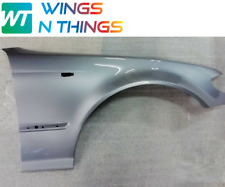 BMW E46 SALOON DRIVER O/S WING 2001-2005 PAINTED  SILVER GREY A08 SILBERGRAU
