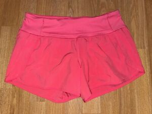 Lululemon High Rise Speed Up Shorts - Pink - Size 6