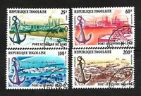 Bateaux Togo (104) série complète de 4 timbres oblitérés