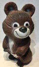 vintage Official plastic Mishka bear olympics mascot Moscow USSR 1980 RARE