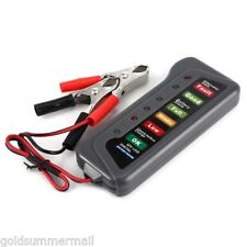 Digital Battery Auto Alternator Tester 6LEDs Display for Car Motorbike Truck 12V