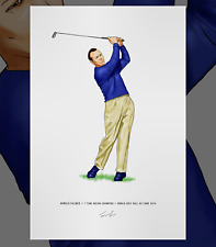 Arnold Palmer Major Champion Golfer Illustrated Print Poster Art