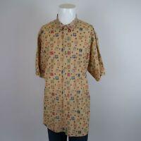 Banana Republic Beige Short Sleeve Button Front Safari & Travel Shirt Mens XL