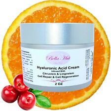 2 oz.-HYALURONIC ACID CREAM w/ CITRUSTEM™+LINGOSTEM™ RESTORE COLLAGEN ELASTICITY