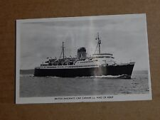 Postcard shipping British railways Car Carrier S.S Maid Of Kent Real Photo
