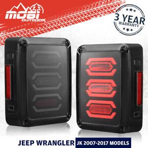MOBI LED Tail Lights Smoked Lens OEM For Jeep Wrangler JK 2007-2017 Models