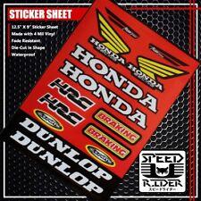 MICRO SPONSOR STICKER DECAL HONDA RACING MAX BREAKING HRC CEMOTO DUNLOP RED LOGO