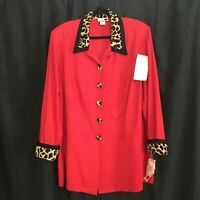 Vintage 1980's Leopard Blazer Women's Size 22W Dani Michaels 2 New With Tags!
