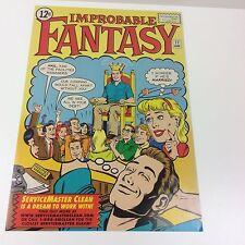 """Improbable Fantasy"" Servicemaster Advertising Promo Comic Book Cover Art Poster"