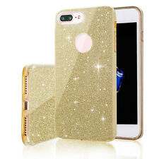 Glossy Clear Crystal Sparkle Glitter Bling Hard Case Cover For iPhone 6s 7 Plus