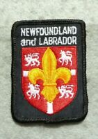 "Larger scouts cloth badge, Newfoundland and Labrador, good condition, 2.5 x 2""."