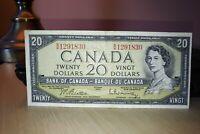1954 $20 Dollar Bank of Canada Banknote BW1291830 VF 20