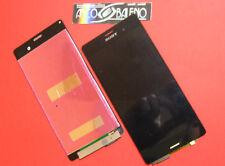 GLS DISPLAY LCD+ TOUCH SCREEN per SONY XPERIA Z3 D6603 NERO VETRO VETRINO NUOVO