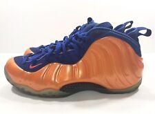Nike Mens Air Foamposite One Knicks 314996-801 Blue Orange New York Size 9.5