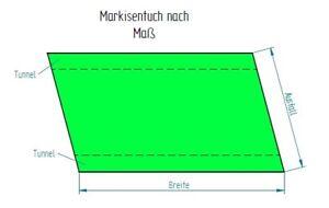 0,5 m² Markisentuch zum Wechseln nach ihren Maßen FNM205