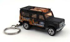 Custom Keychain Land Rover Defender 110 Black Key Chain Ring Fob