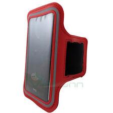 Armband fascia braccio Sport per HTC One E8 custodia ROSSO funzione touch screen
