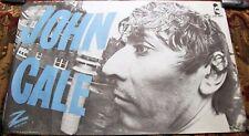 "JOHN CALE RARE FRENCH REC COM PROMO POSTER ""MUSIC FOR A NEW SOCIETY"" ALBUM 1982"