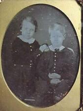 Two Brothers, Classic Image, Large.  1/4 plate daguerreotype. Original seals
