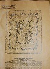Vtg Gold Art Needlework Co. American Beauty Bouquet Applique Quilt 0052 #31