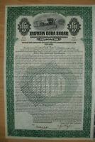 Eastern Havana Sugar  Corp. 1000$ 1922 uncancelled / Coupons