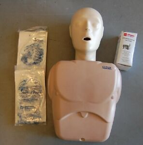 Adult/ Child Nasco CPR Prompt Training Manikin w/ Supplies -Very Good Condition