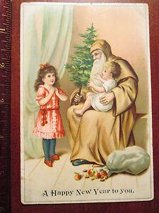 Victorian Santa Claus Card - Rare