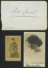 Lillie LANGTRY (Actress): Autograph Signature and Original Photographs